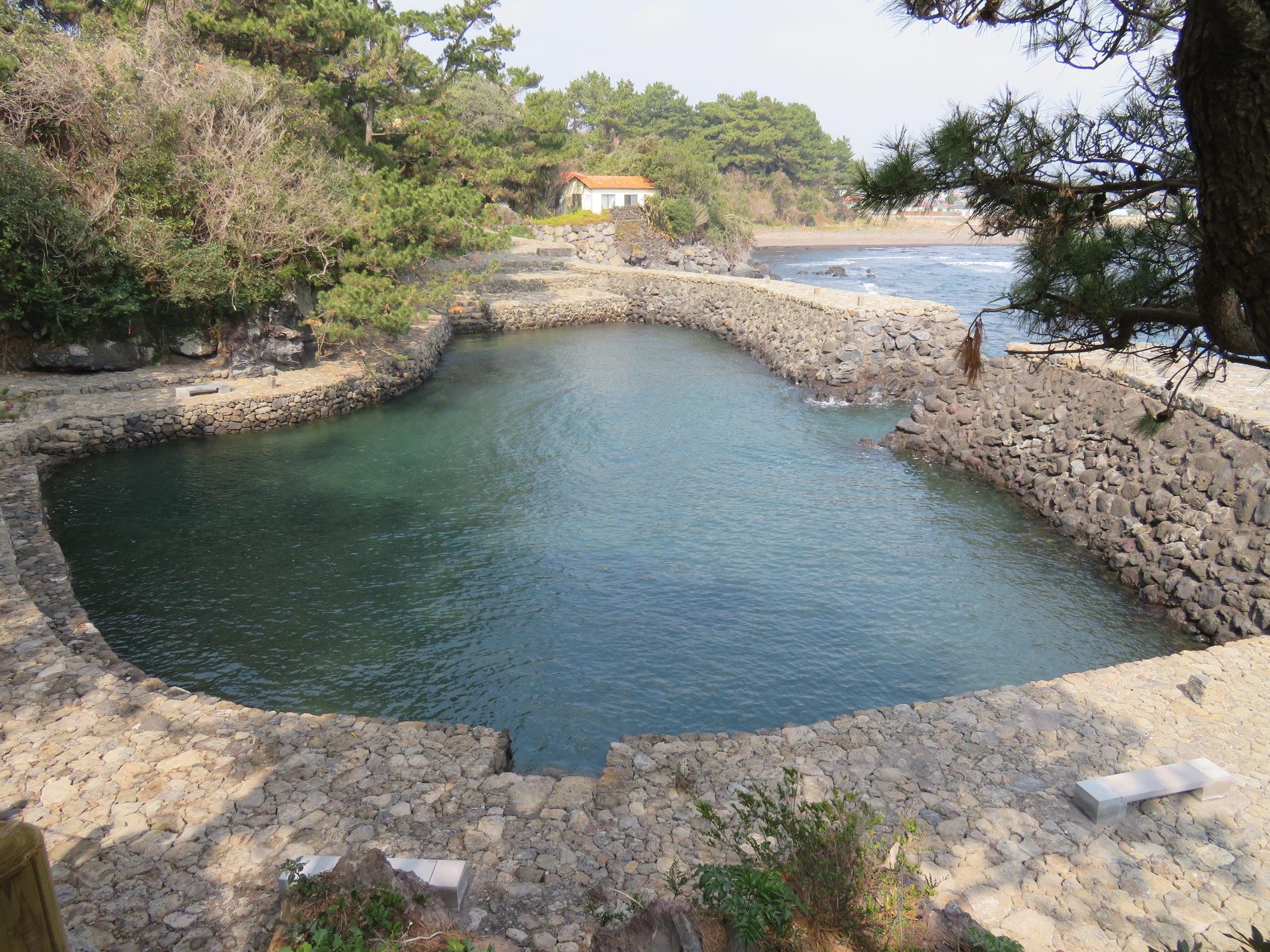Beautiful stone pool on the coast near Soesokkak