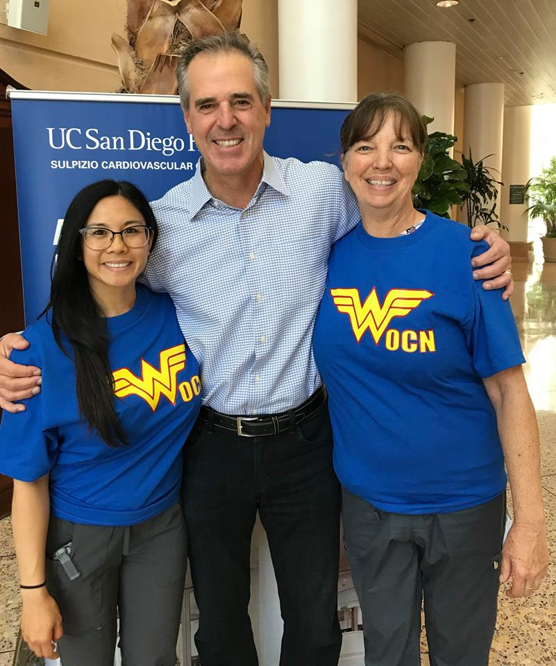 Grateful Patient Project founder and former NFL Man of the Year Rolf Benirschke thanks two UC San Diego Health nurses who care for Crohn's and colitis patients like him.