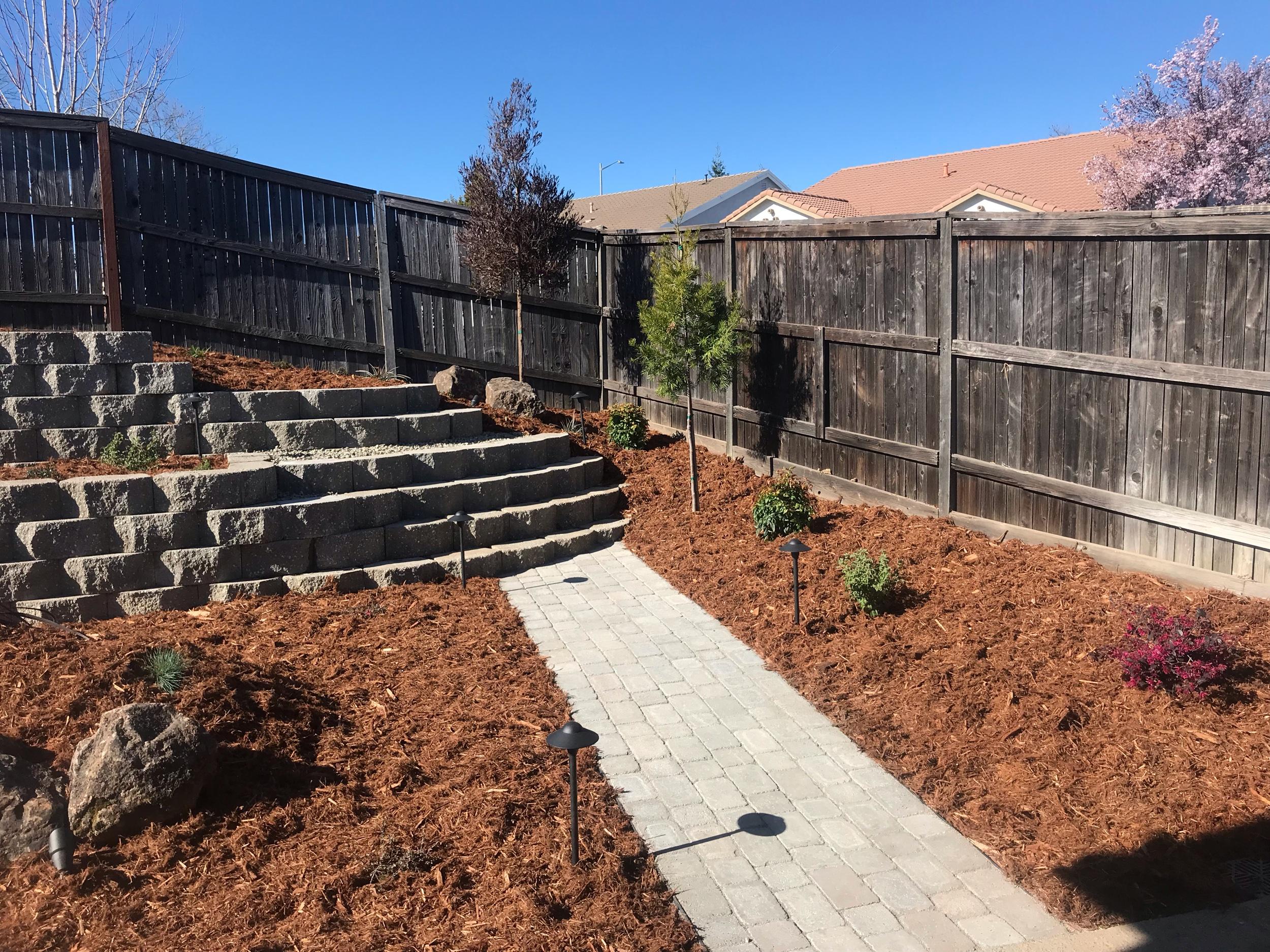 Complete landscape installation Rocklin