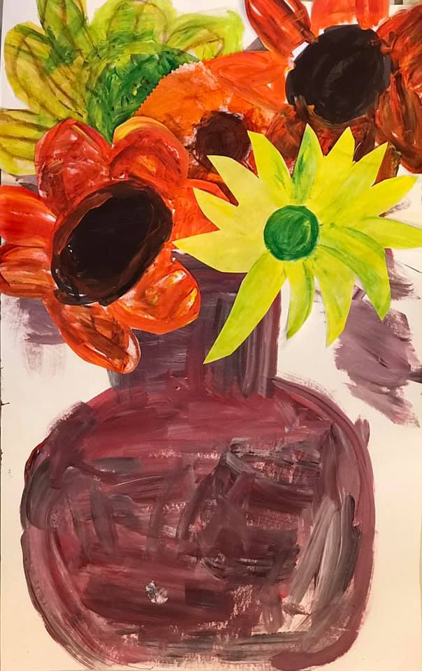 Flower Vase with Sunflower