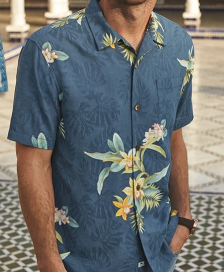 TOMMY BAHAMA  The pioneer in relaxed island wear of superior quality—seasonal selections of sport shirts, polos, t-shirts, pants, shorts, sweaters, swim. Featuring large selection of Relaxology t-shirts and footwear—incredibly light and comfortable boat shoes, sandals, sneakers.