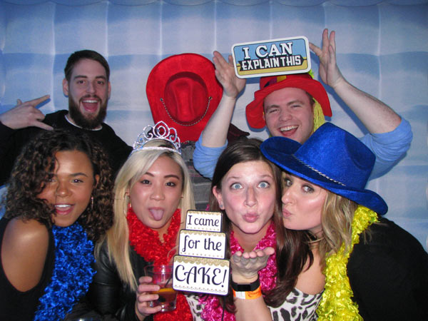 "FotoGenic - is a 'spanglish' word!We adore the word photogenic but wanted to add a Spanish twist!Foto translates to picture in Spanish so we combined the two = FotoGenic!Our photo booth attaindents make your guest  feel comfortable even if they don't think they're "" FotoGenic"""