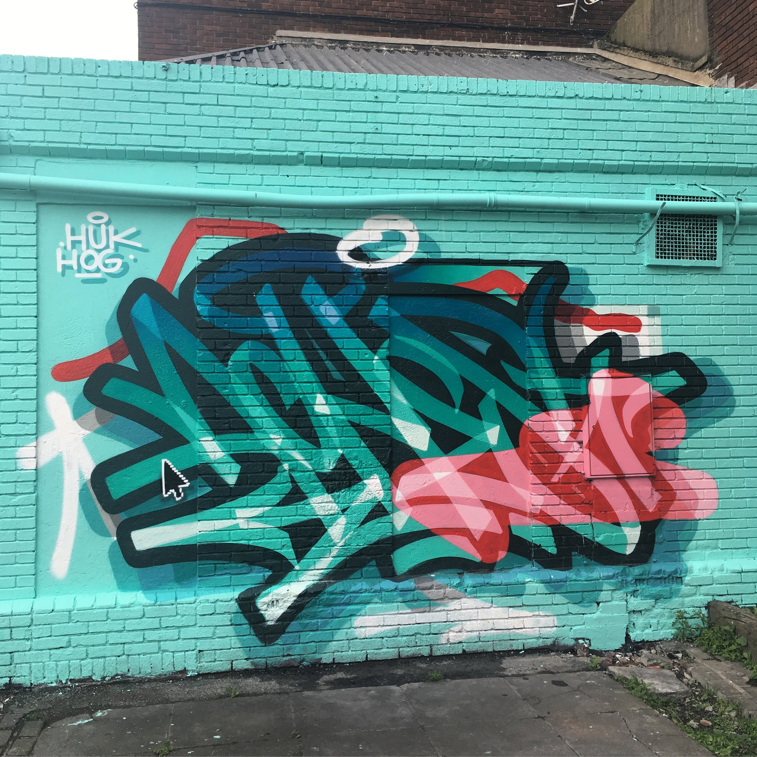 Graffiti by Aches in Smithfields for the Grey Area Project