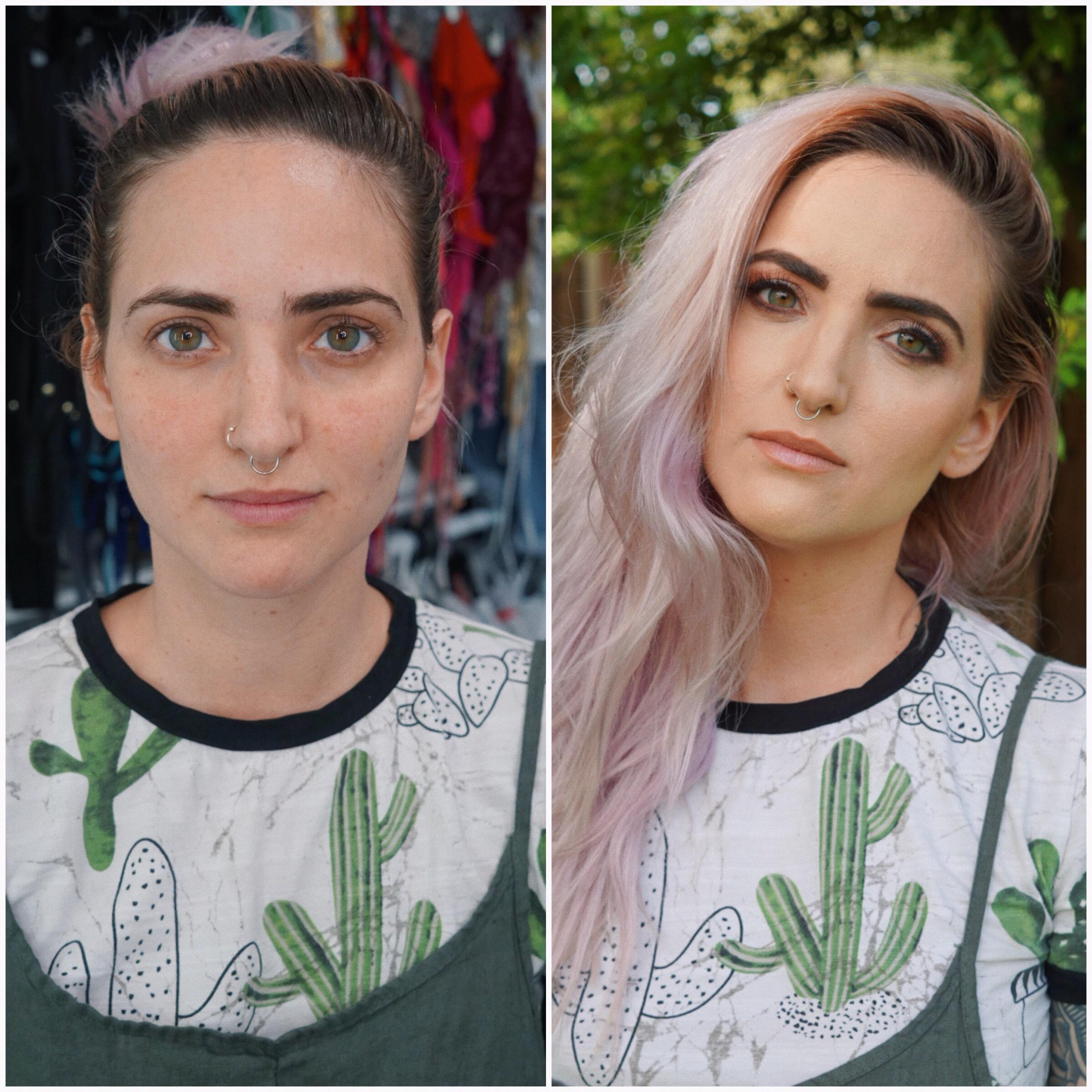 El antes y después sin edición para que puedan verlo como quedó