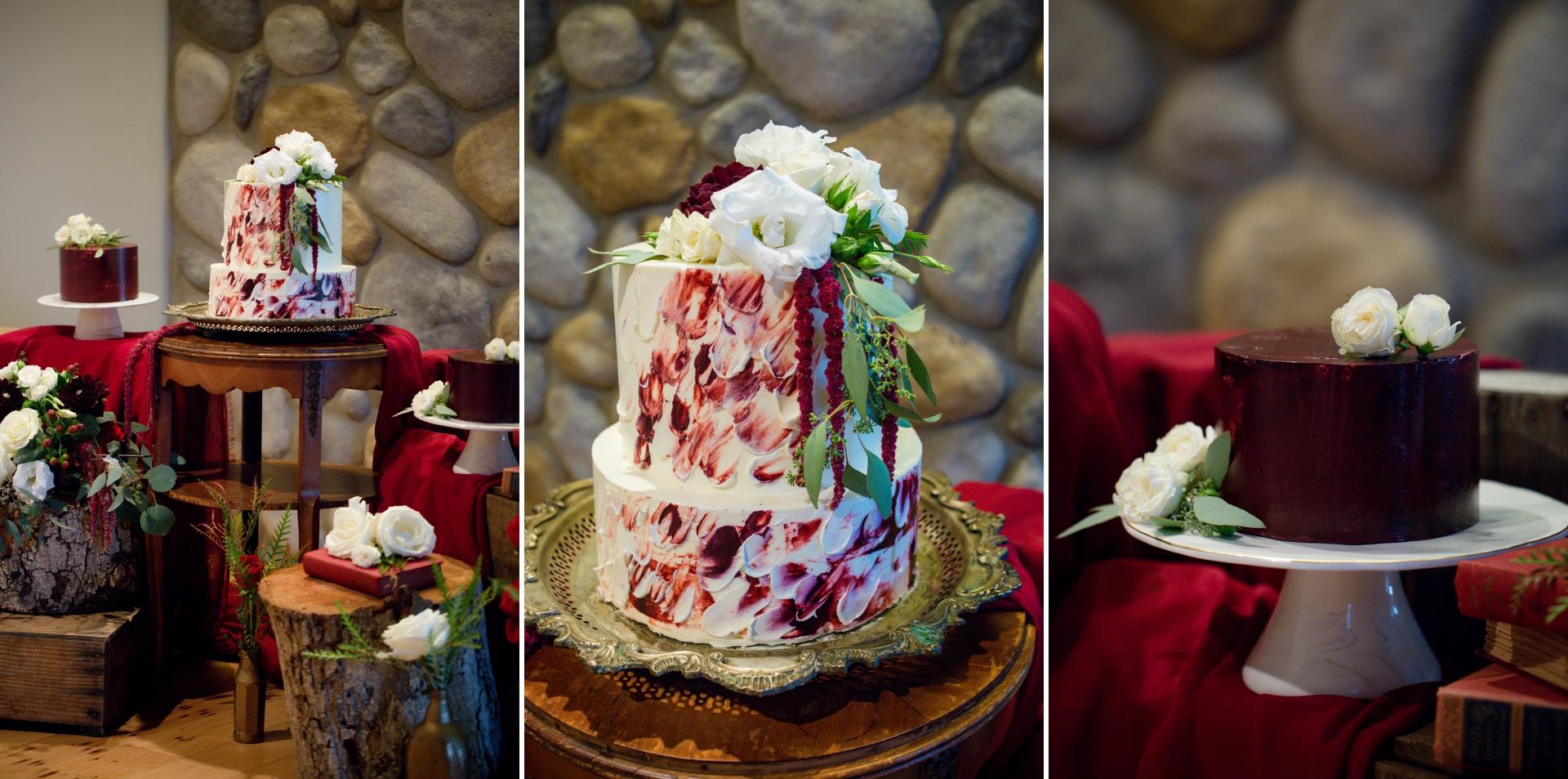 2018 Winter wedding Cake
