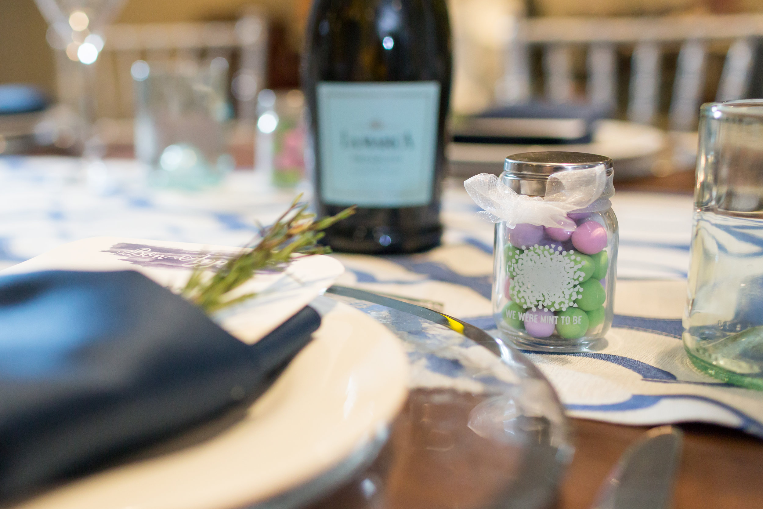 Edible Wedding Favors Mints photographed by destination wedding photographers Blessed Weddings