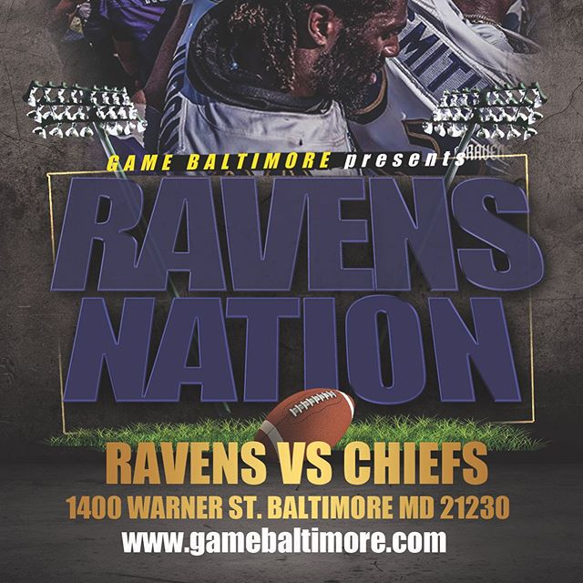 Ravens Nation @ Game this Sunday! Come support our Ravens at the Biggest Ravens Nest in Baltimore!