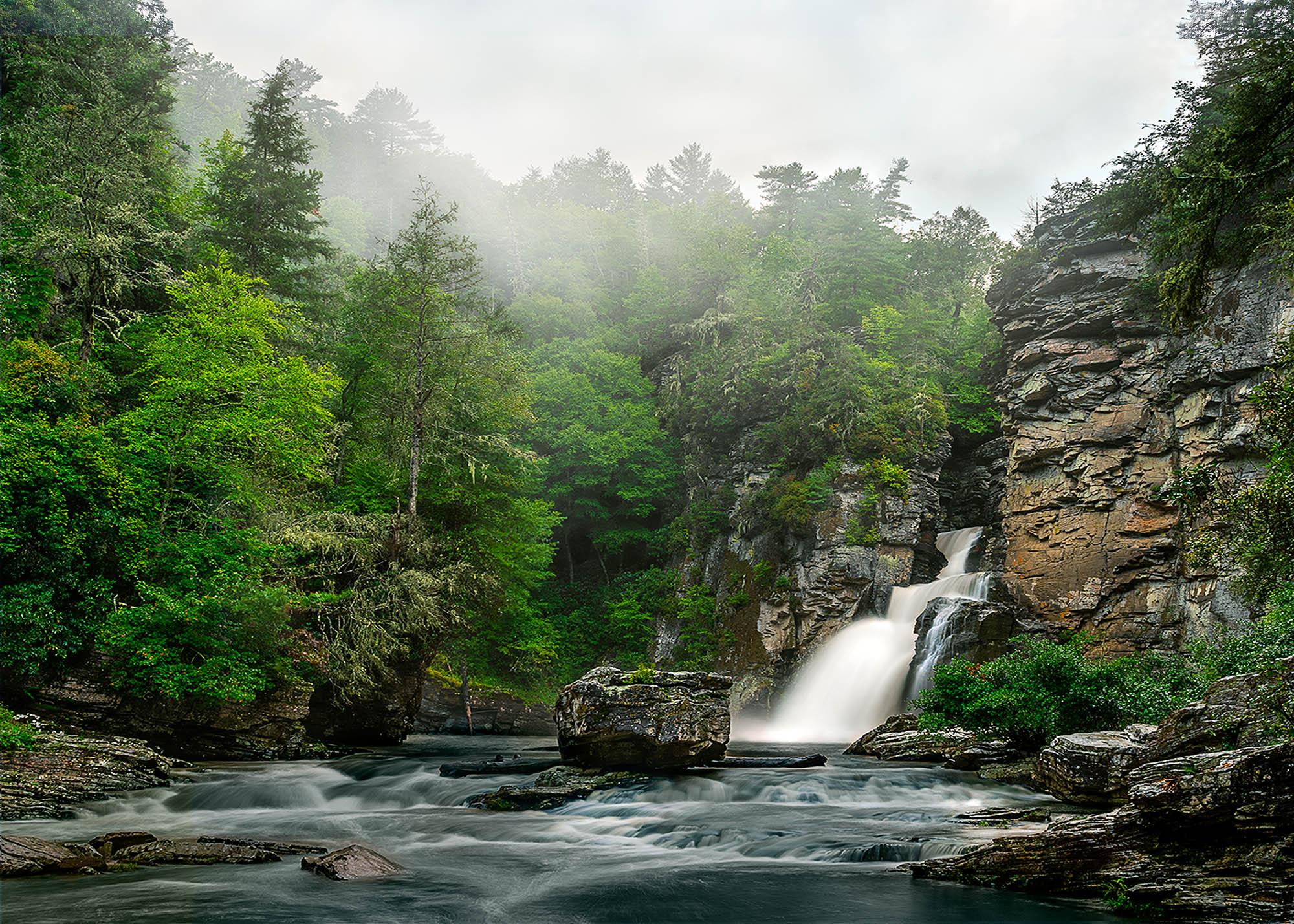 North Carolina linville falls blue ridge parkway