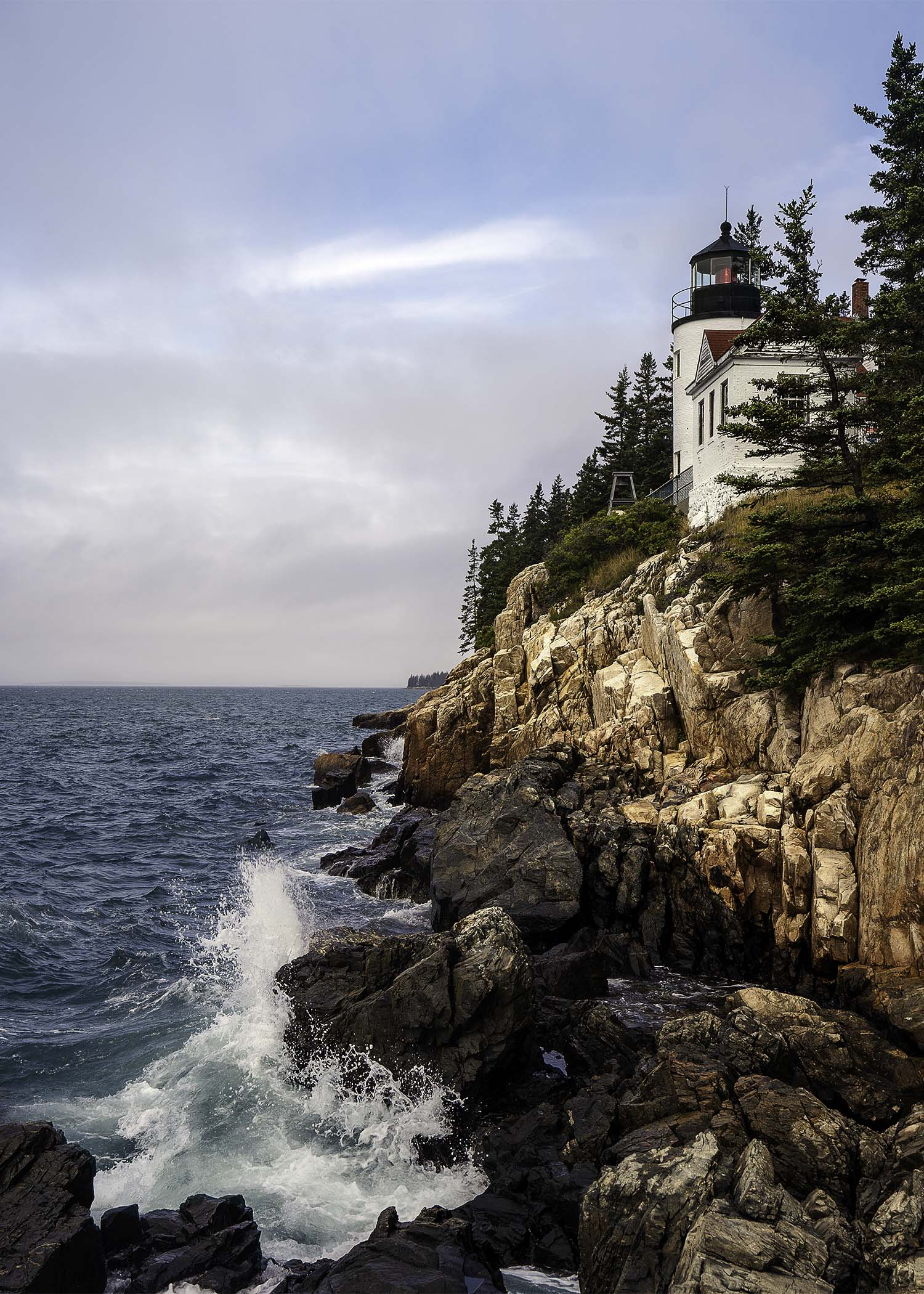 Bass Harbor lighthouse in Acadia National Park Maine