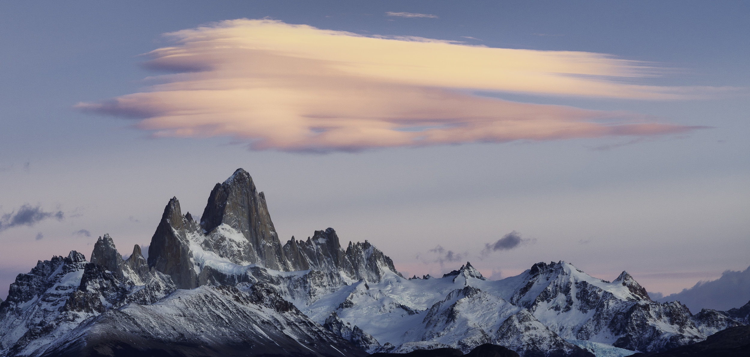 Lenticular Clouds over fitz roy. El Chalten Argentina