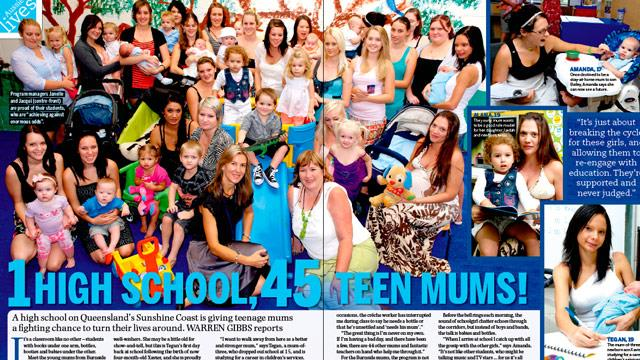 Woman's Day Article – One High School, 45 teen Mums.