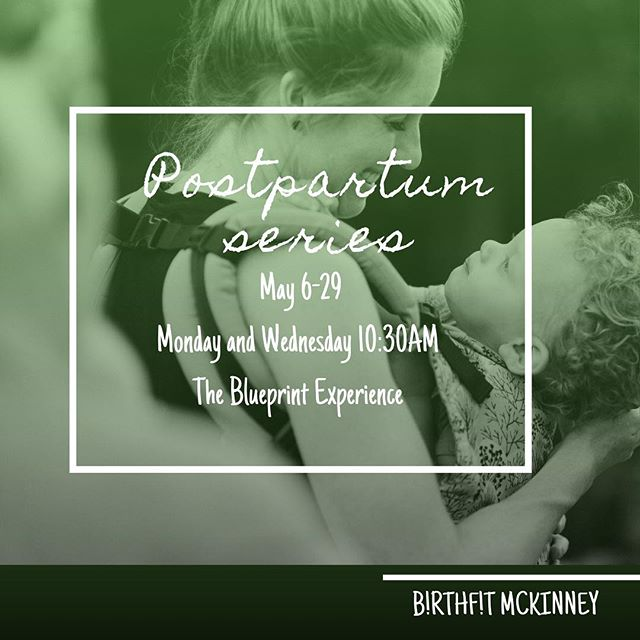 Calling all mommas! @birthfit McKinney will be hosting a PostPartum Series 💫starting May 6th at @blueprintexperience 🙌🏼 This is ideal for new postpartum mamas, no matter your birth story. You don't have to know anything about fitness , we just need you to show up and be in our space with us! Look for more details and sign up click the link in our profile. Only a few spots left before we sell out!! #movementislife #fitness #nutrition #chiropractic #mindset #strongmomma #birthfitmckiney #birthfittexas #buildabettercommunity #birthfittribe