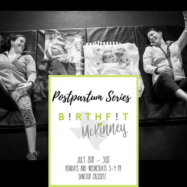 Calling all mommas! @birthfit McKinney will be hosting a PostPartum Series 💫starting next Monday, July 8th at @sanctumtx 🙌🏼 This is ideal for new postpartum mamas, no matter your birth story. You don't have to know anything about fitness , we just need you to show up and be in our space with us! Look for more details and sign up  by clicking the link in our profile. We only have a limited amount of spots!! #movementislife #fitness #nutrition #chiropractic #mindset #strongmomma #birthfitmckiney #birthfittexas #buildabettercommunity @birthfit