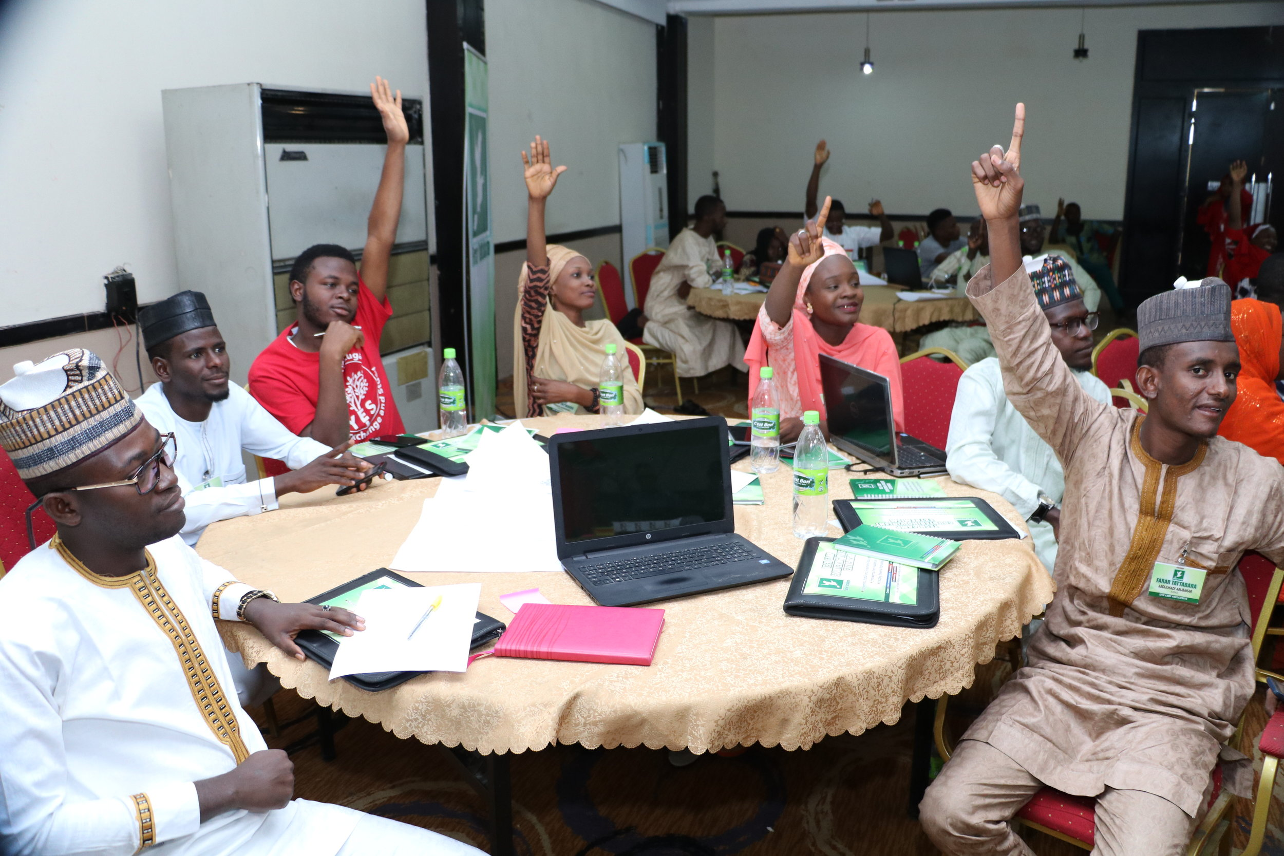 A cross section of participants.