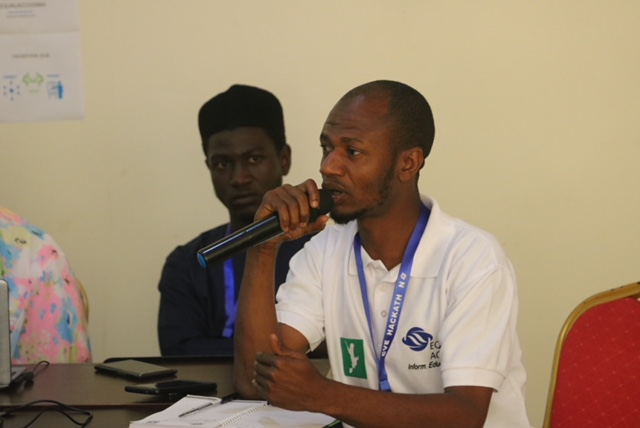 Aminu Saleh talking on the security challange