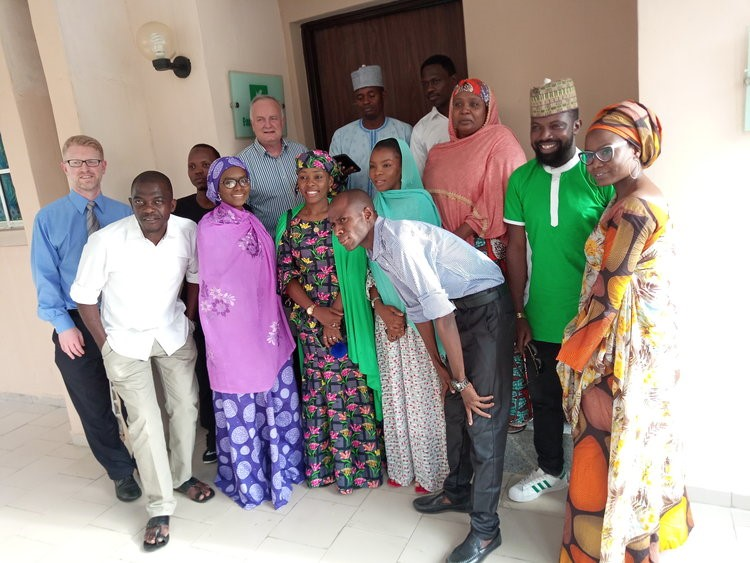 Equal Access Team with Kannywood stars during the visit.