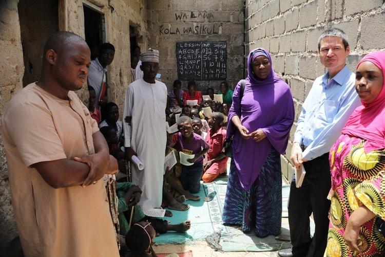 The visiting team with Ulamas of Tsangaya school.