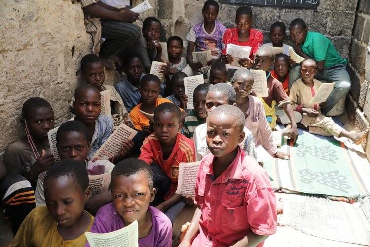 Almajiri students at their Tsangaya school