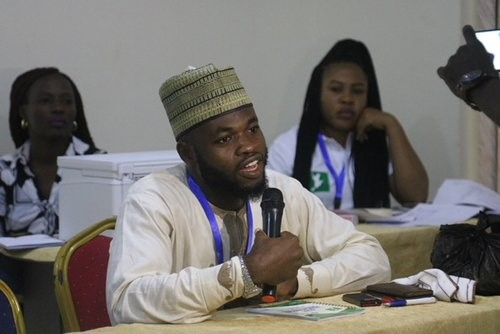 Ibrahim Jimoh one of the participant at the hackathon venue