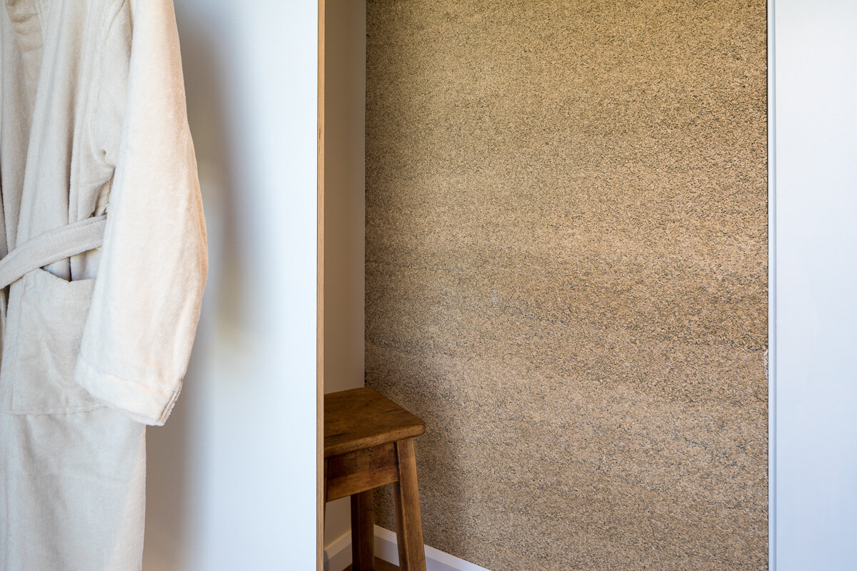- The raw hemp serves as a visual reminder of Treehouse Studio's green heart.