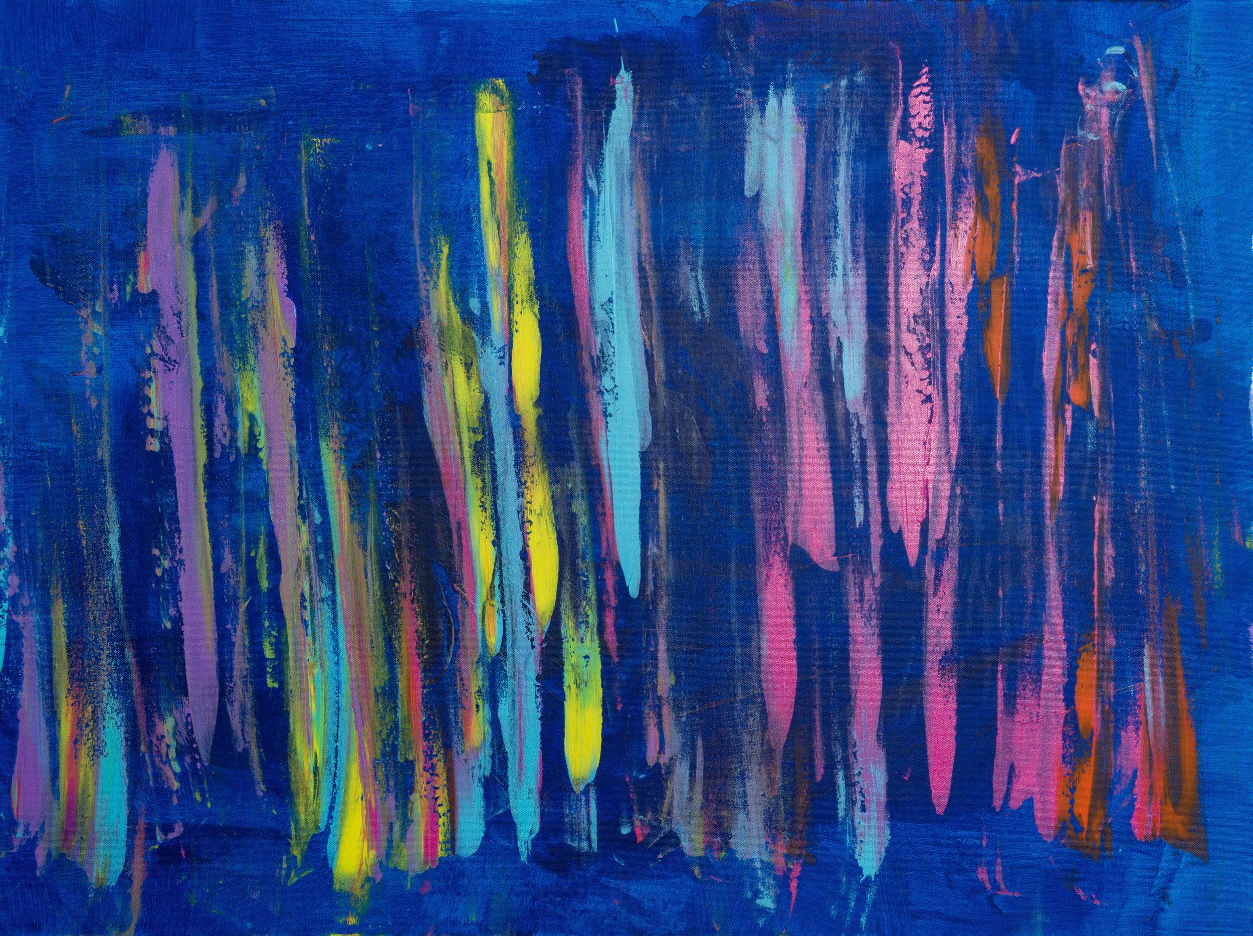 """untitled, acrylic paint, 30"""" x 40"""" (2017)"""
