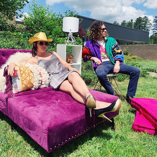 Did you know that everything in this photo (except for Allie & Michael of course) will be for sale on August 17?? You can get both of these super fun outfits in addition to the furniture at our sale! We look forward to seeing you 🤩👍