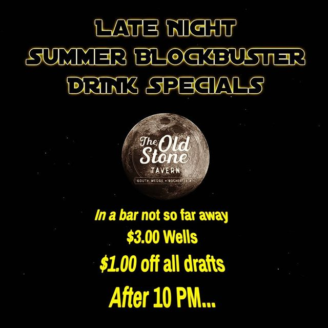 Summer is finally here. To celebrate we're offering great late night drink specials all summer long, plus you can always grab some great food even late @theoldstonetavern  #southwedgerochester #rochesterny #roceats