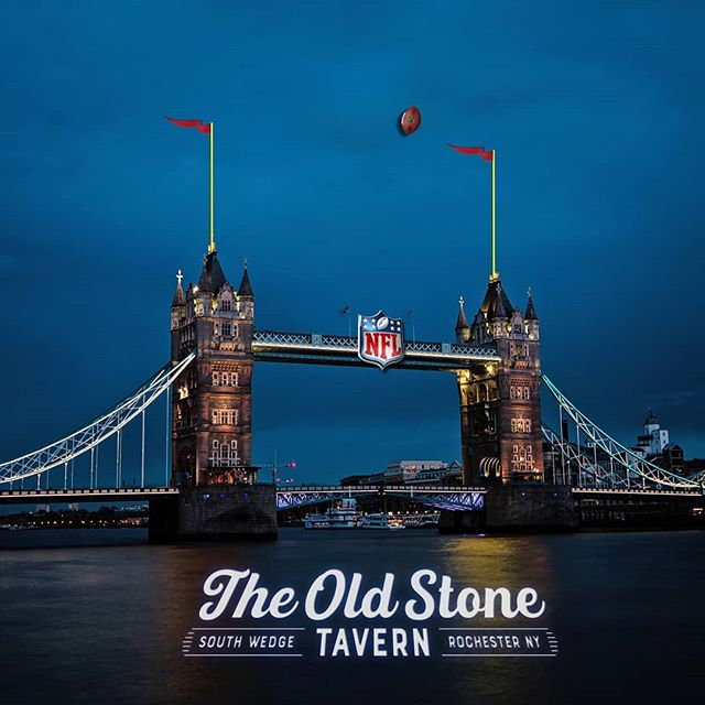 The NFL kicks off early from London tomorrow, so we will too!  Doors open at 10am.