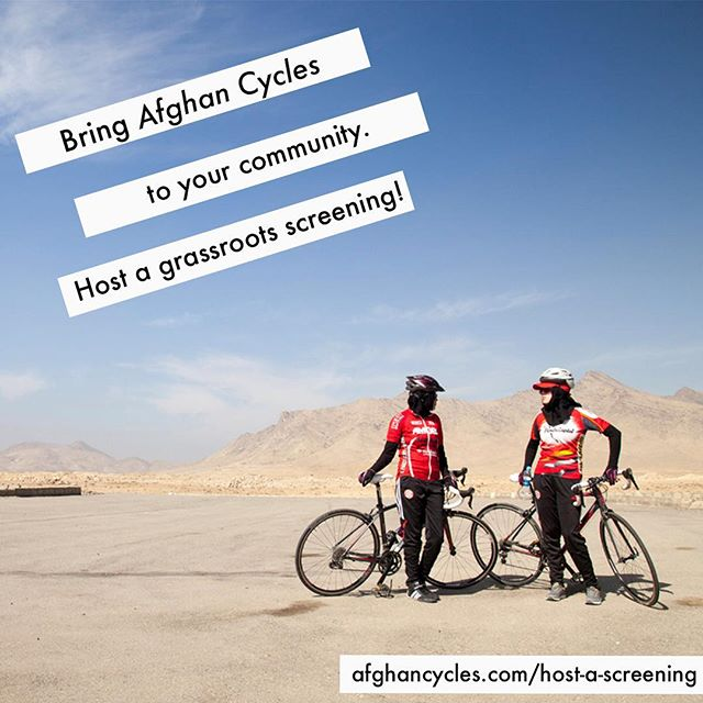 We want to get as many grassroots screenings organized as we can this fall. Will you help us?  Get in touch to learn more about screening Afghan Cycles in your community! 🎥 🚲  #afghancycles #documentary #womencycling #womensrights