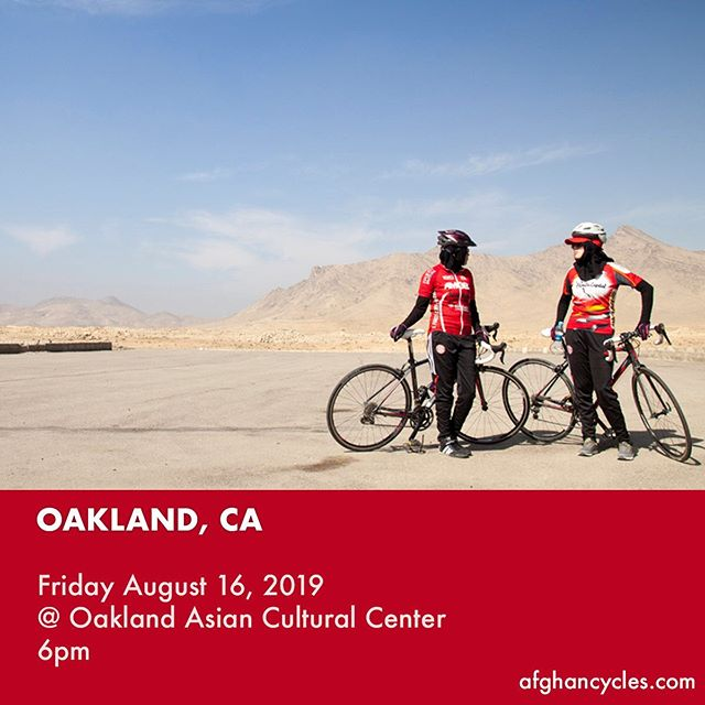 Oakland! Special screening tonight at 6pm at @oaklandasiancc in conjunction with @oaklibrary. Hope you can make it! #afghancycles #documentary #womencycling #oakland #oaklandevents