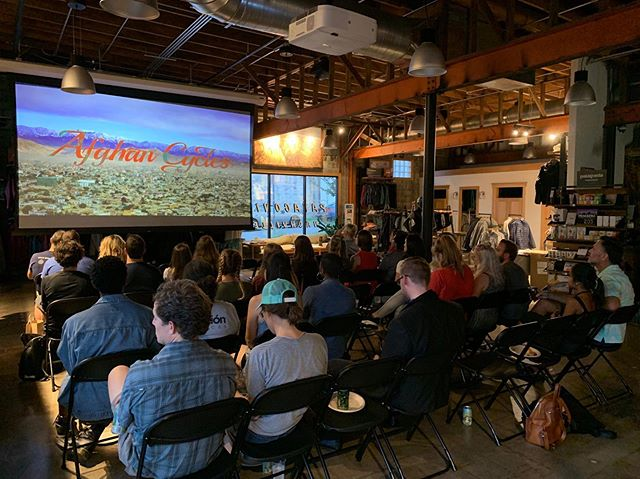 Thanks to @walkbikenash for teaming up with @patagonianashville to host a screening of #afghancycles! We love seeing this film get out to communities around the country. If you're interested in hosting a screening, head to our website to learn more!