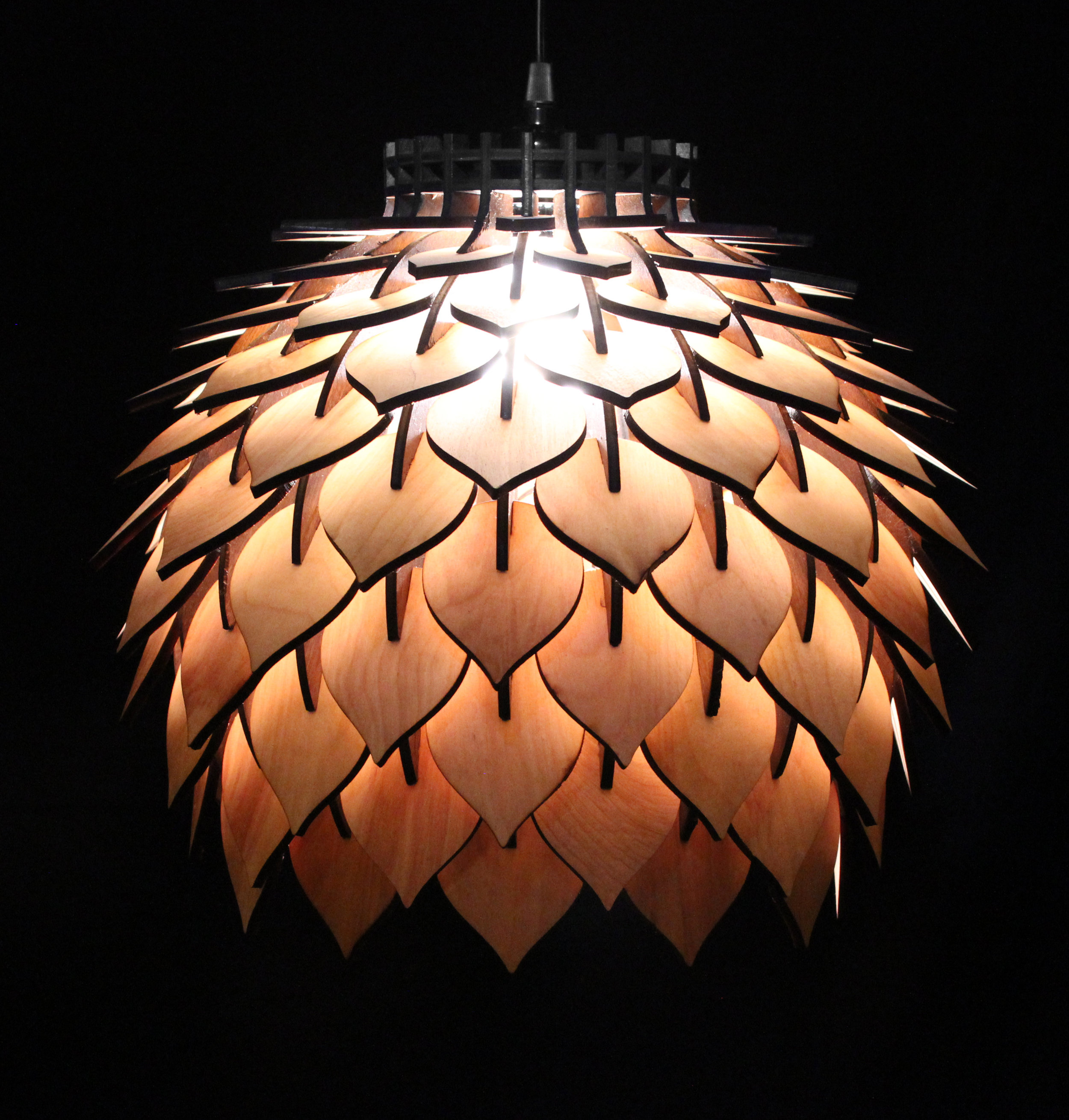 spore lamp 2 – handmade laser cut parametric postmodern interior light geometric wooden pendant lamp terraform design.jpg