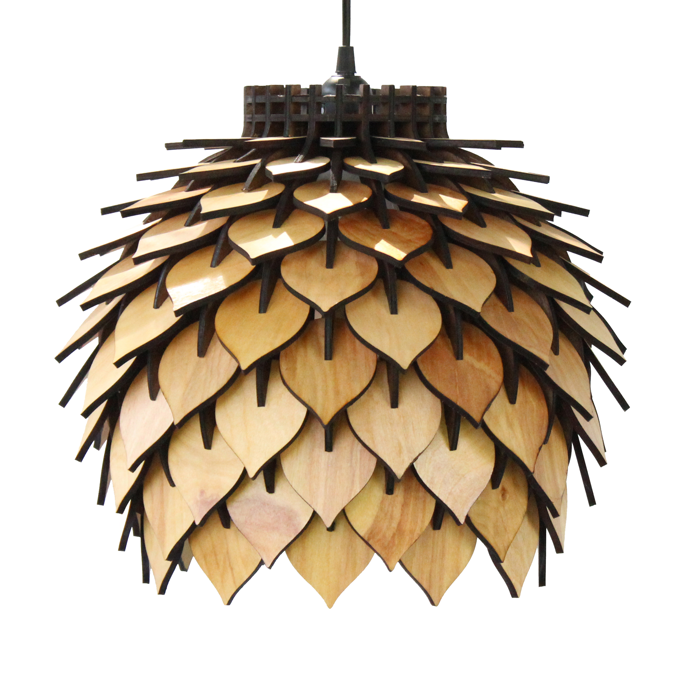 spore lamp – handmade laser cut parametric postmodern interior light geometric wooden pendant lamp terraform design.jpg