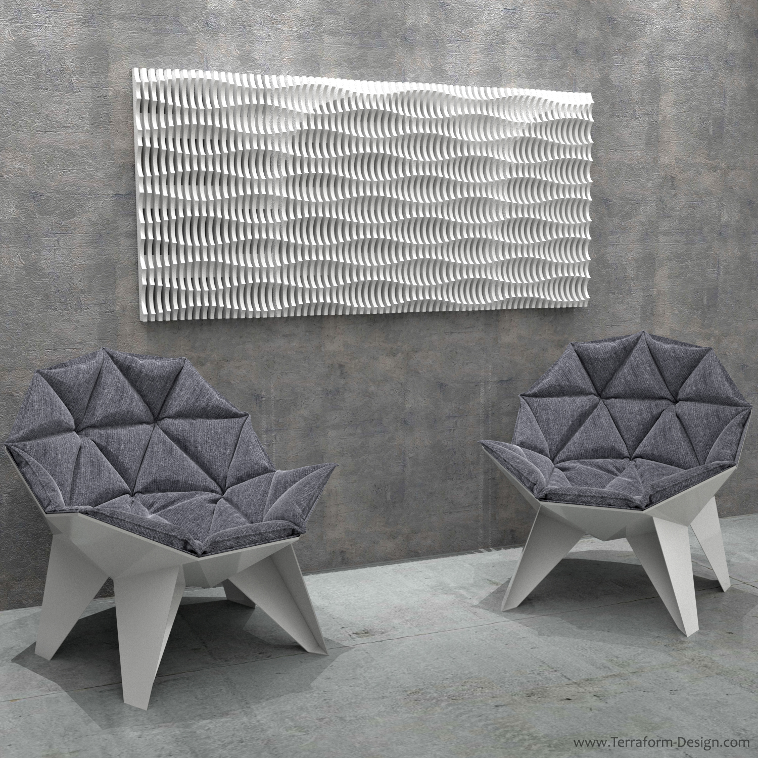 acoustic I_C_2W parametric cnc router postmodern sectioned organic geometric plywood wall fixture accent accessory wall decoration panel terraform design.jpg