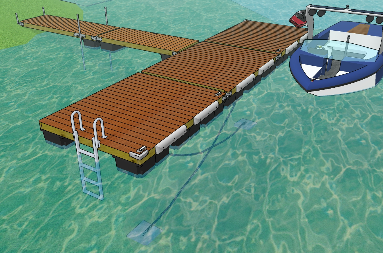 Build A Floating Dock - Easy to follow plans and parts list