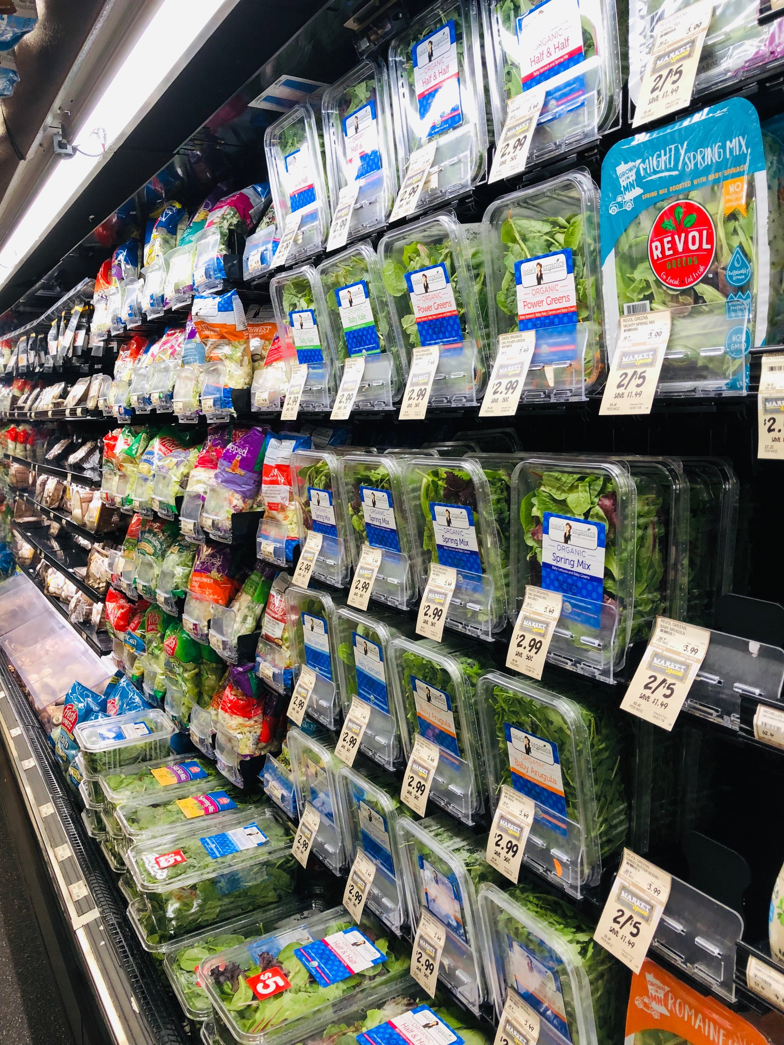 The way lettuce is packaged creates a sea of plastic in almost every grocery store.