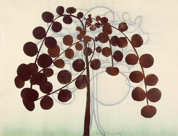 179. Tree Study, Monotype 18 x 24 inches
