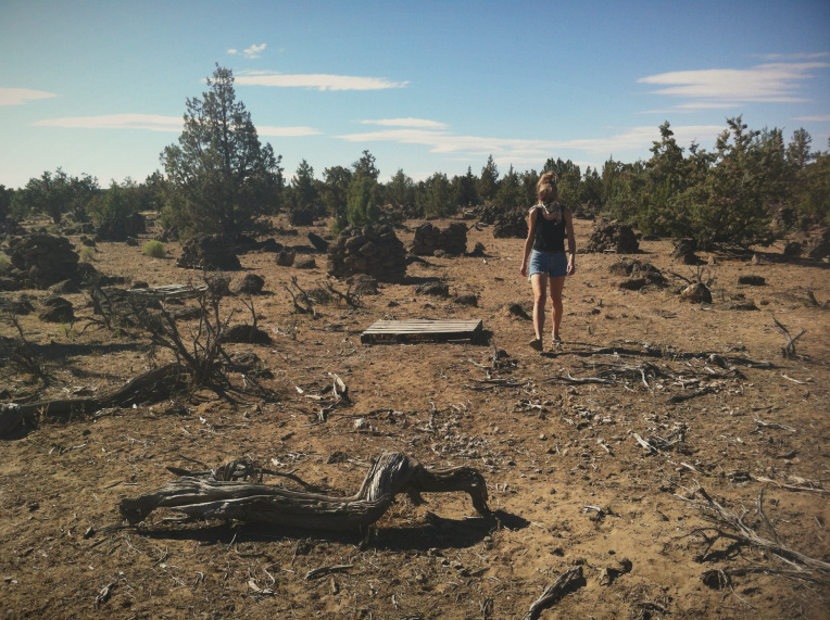The Oregon desert behind the site of Crawfest. July, 2013.