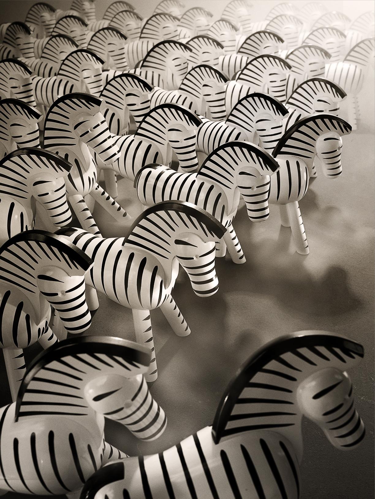 Wooden Zebras. Hagedornhagen's interpretation of the original drawings by Kaj Bojesen a Scandinavian icon.