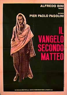 Original theatrical release poster for Pasolini's  The Gospel According to St. Matthew,  1964