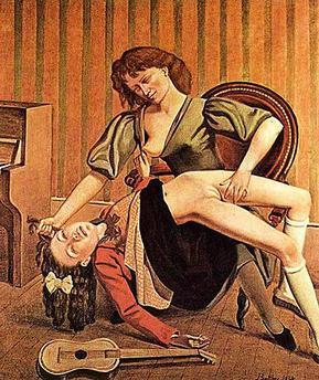 The Guitar Lesson, Balthus, 1934
