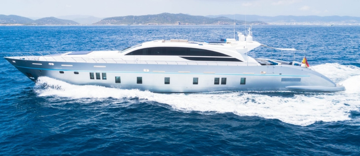 Luxury boat in Ibiza