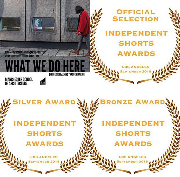 What we do here - Mini-doc about the B15 model-making worksop. Presented at the Venice Biennale.Los Angeles Independent Shorts Film Festival: Silver for Best Editing and Bronze for Best Documentary Short