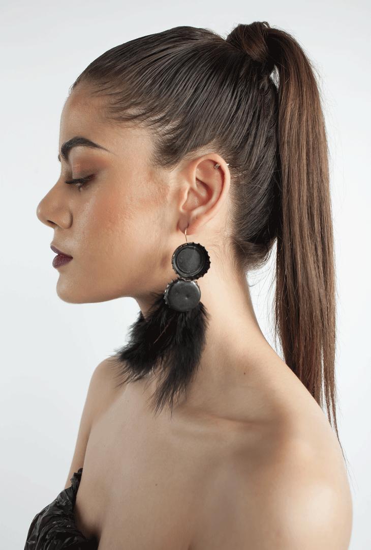 Bottle top earrings