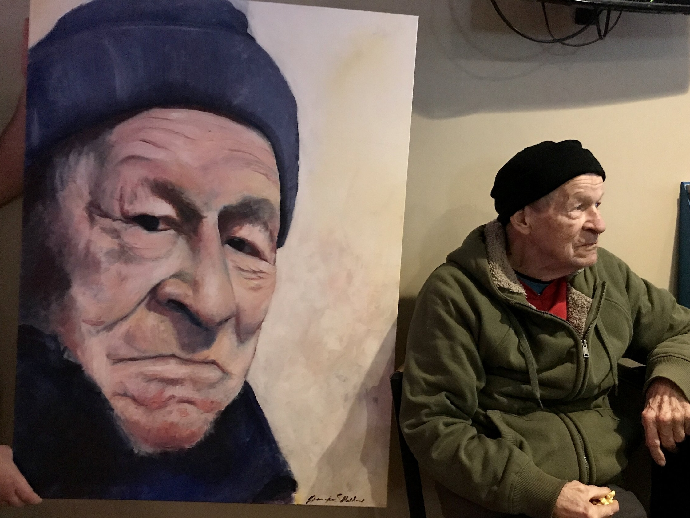 Dan and his portrait