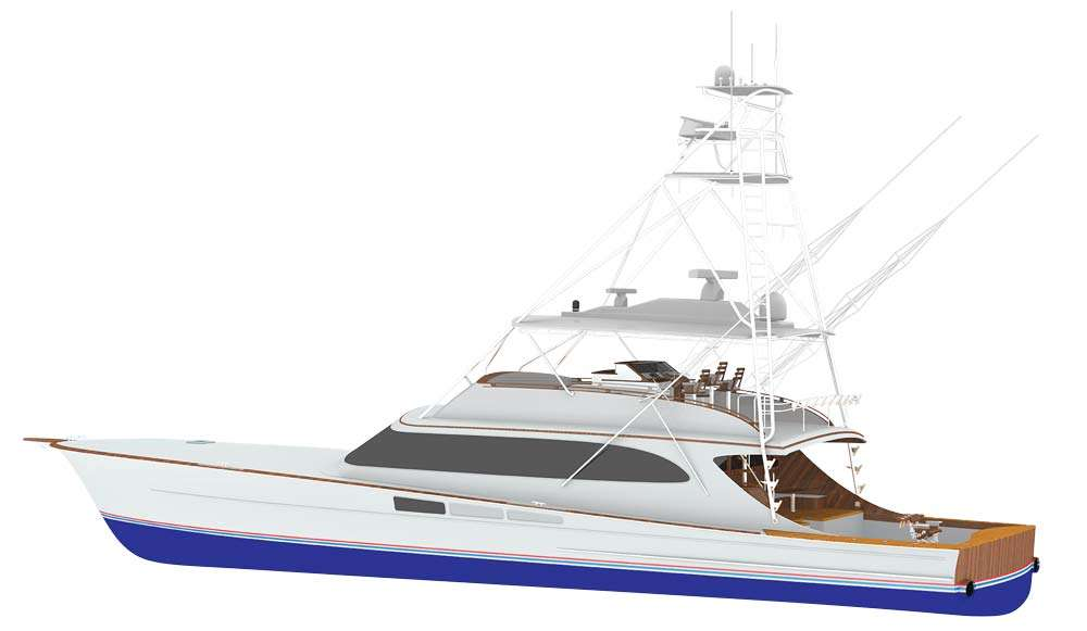 michael rybovich & sons 94 - seakeeper 30HDVessel still being constructed