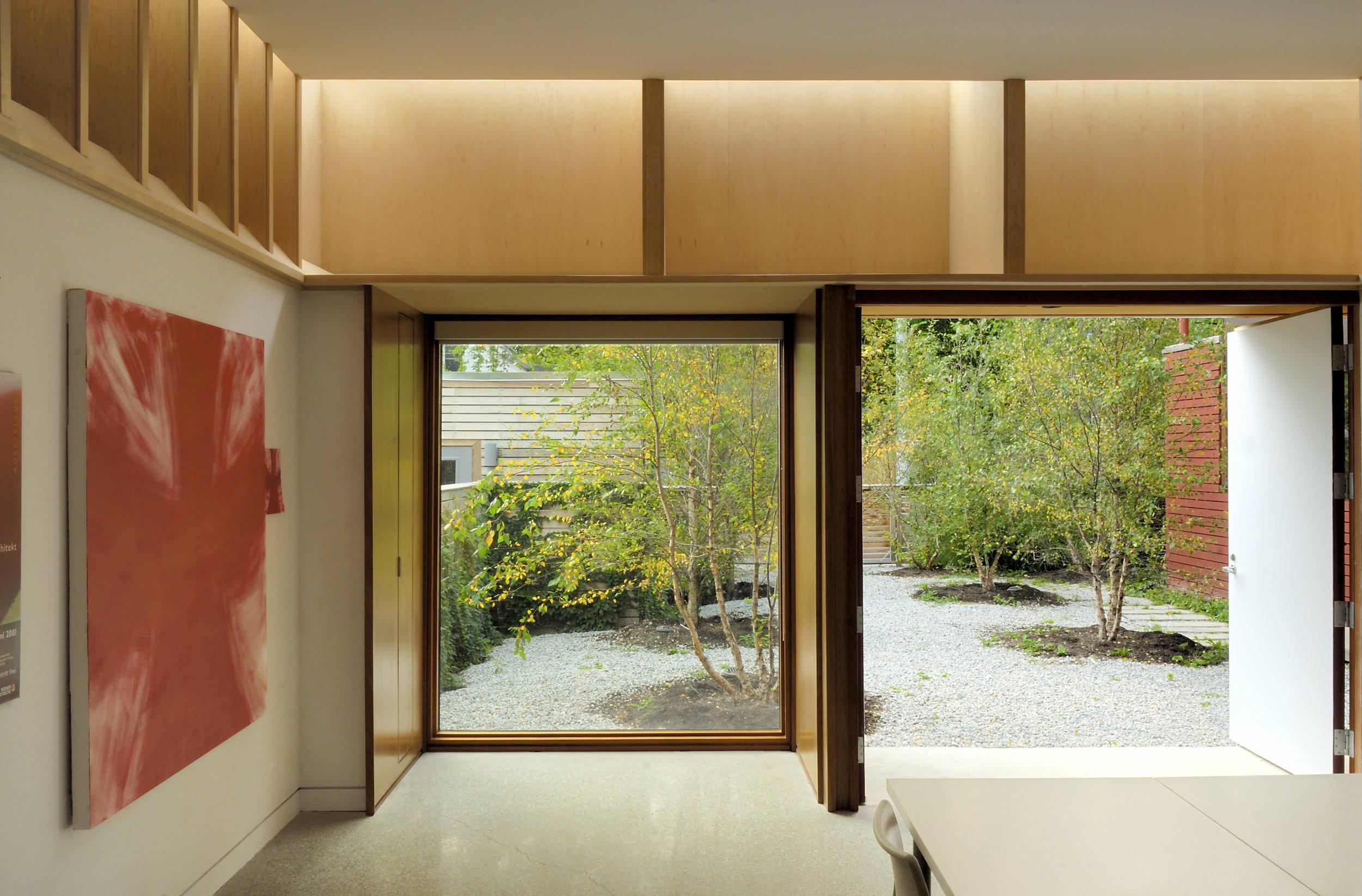Craven Road Studio Interior Front Window View