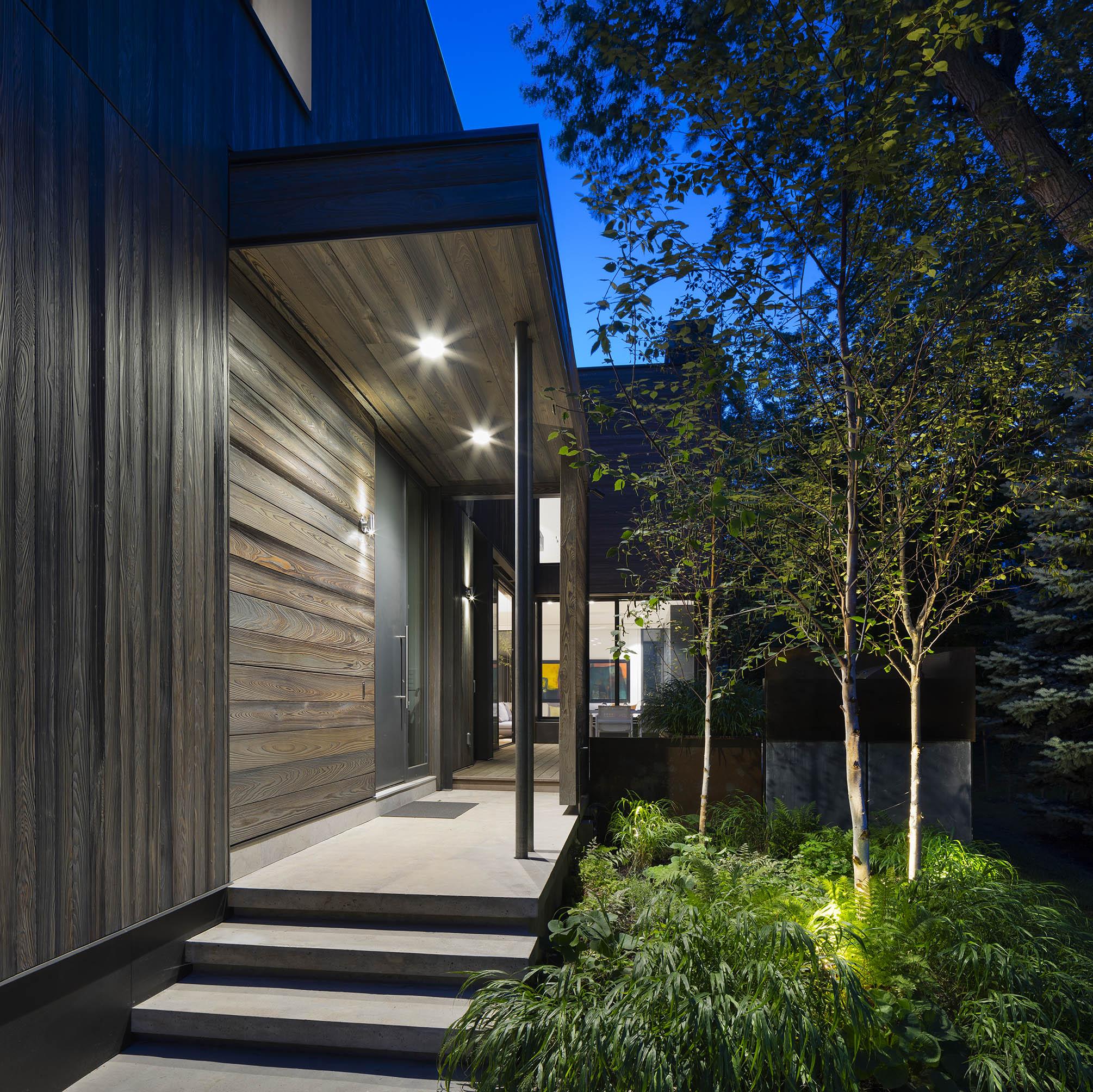 A House in a Grove Exterior Entrance