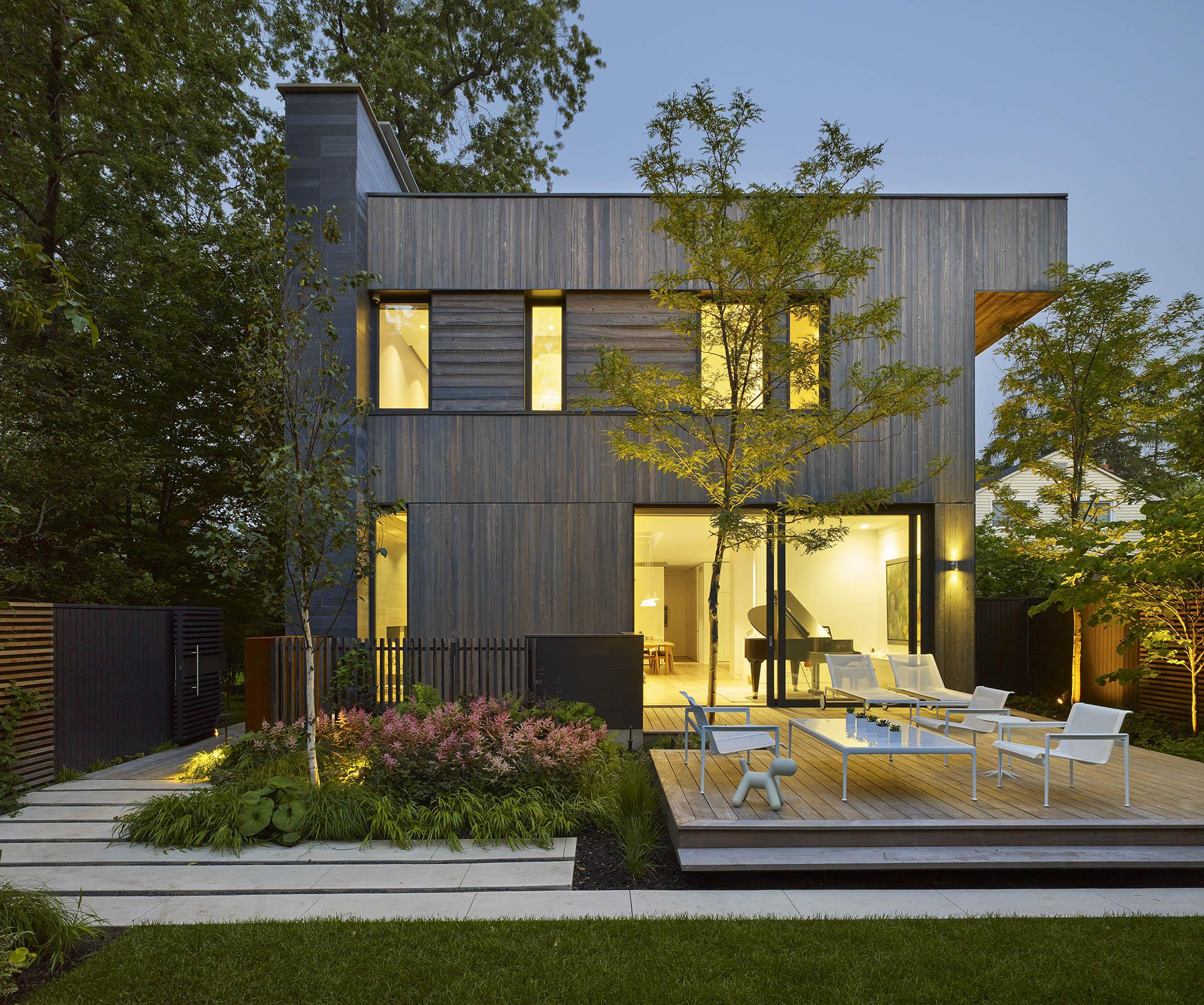 A House in a Grove Exterior Backyard