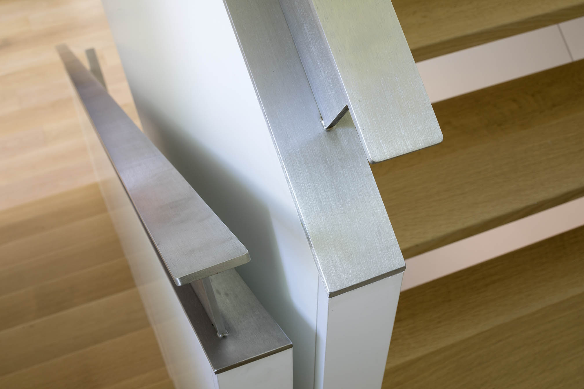 A House in a Grove Interior Staircase Detail